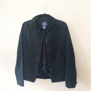 Faconnable Navy Corduroy Collar Barn Jacket